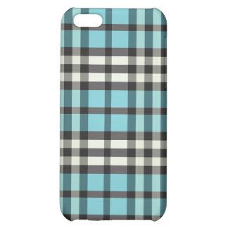 Aqua/svart pläd Pern iPhone 5C Mobil Skal
