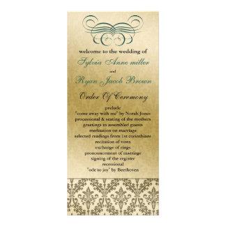 aquabröllopsprogram anpassade ställkort