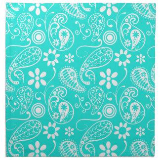 Aquafärg Paisley; Blommigt Tygservett