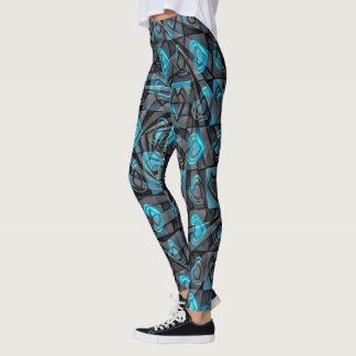 Aquahjärtor Leggings