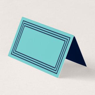 Aquakricka med trefaldiga marinblåa gränser placeringskort