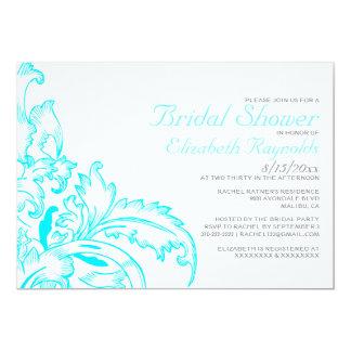 Aquakrusidullinbjudningskort för möhippan 12,7 x 17,8 cm inbjudningskort