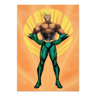Aquaman anseende 12,7 x 17,8 cm inbjudningskort