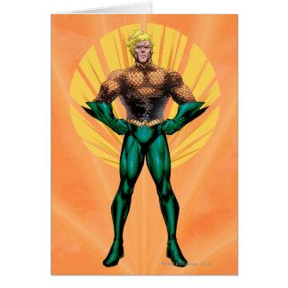 Aquaman anseende hälsningskort