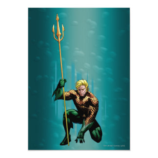 Aquaman huka sig ned 12,7 x 17,8 cm inbjudningskort