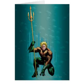 Aquaman huka sig ned hälsningskort