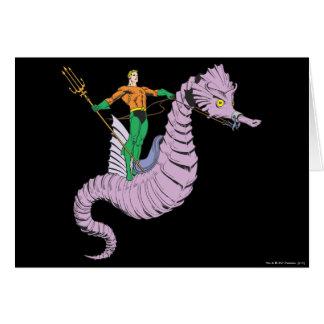 Aquaman rider seahorsen hälsningskort