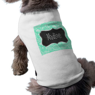 Aquamarine Paisley; Retro svart tavla Djur Shirt