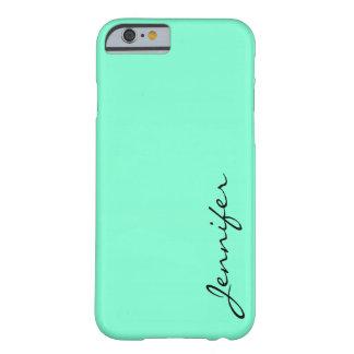 Aquamarinefärgbakgrund Barely There iPhone 6 Skal