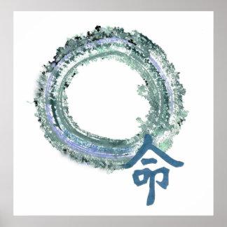 Aquamarineöde, Enso Poster