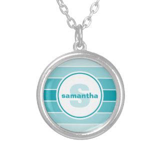 AquaOmbre Monogram Silverpläterat Halsband