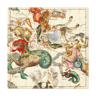 Aquarius, Andromeda, Pegasus, Phoenix och andra Canvastryck