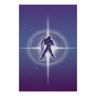 Aquariushoroskoplavendel HLRX Poster