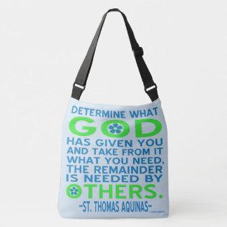 Aquinas citationsteckengud som ges andra behov axelväska