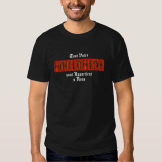 Aquitaine svart utslagsplats, mörk manar t shirts
