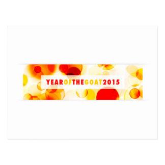 år av geten 2015 (bokeh) vykort