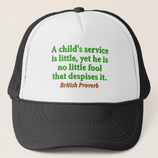 Är barnet Service lite - den brittiska proverben Truckerkeps