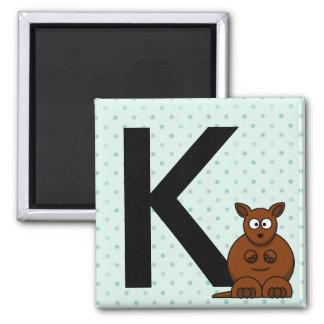 """""""Är brev K"""" för kängurubarns magneter"""
