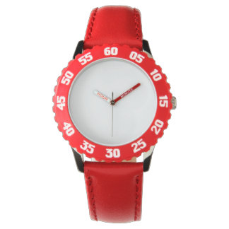 Är den röda klockan för barnrostfritt stål med armbandsur