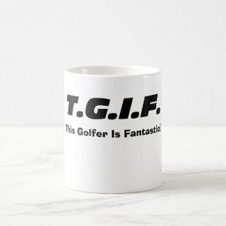 """""""Är denna golfare fantastisk! """"Mugg Kaffemugg"""