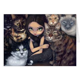 Är det All hälsningkortet om för katterna