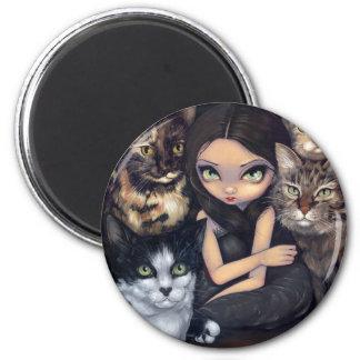 Är det All magneten om för katterna Magnet För Kylskåp