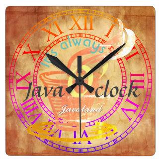 """""""Är det alltid det Java klockanet! """", Fyrkantig Klocka"""