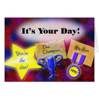 """""""Är det din dag!"""", födelsedagkort (från alla) Hälsningskort"""