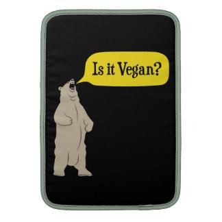 Är det veganen? Hungrig björn MacBook Sleeves