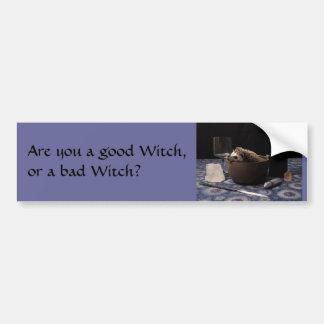 Är du en bra häxa eller en dåligahäxa? bildekal