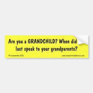 Är du ett barnbarn? bildekal