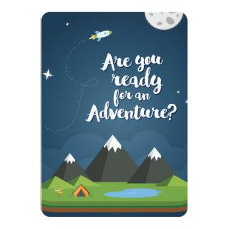 Är du klar för ett äventyr? JA! 12,7 X 17,8 Cm Inbjudningskort