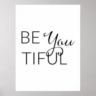 Är du Tiful - inspirera affisch