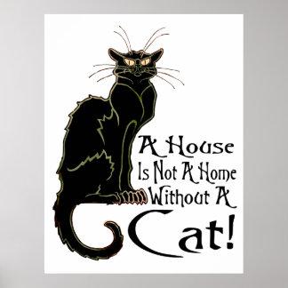 """""""ÄR ett hus inte ett hem utan en katt"""" - affisch Poster"""