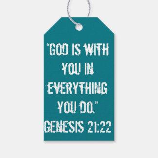 """""""Är guden med dig"""" Scripturegåvamärkren Presentetikett"""
