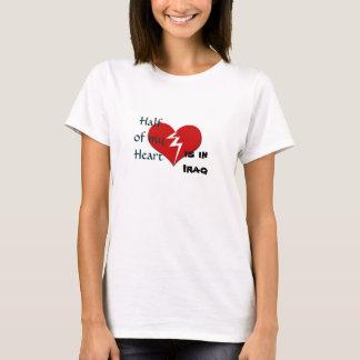 Är halvan min hjärta i den Irak militären T-shirts