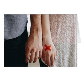 """""""Är kärlek inte förhållandet för en testa"""" Hälsningskort"""