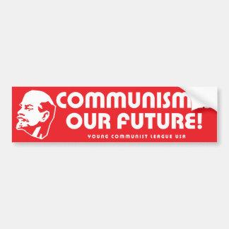 """""""Är kommunism vår framtid!"""", YCLUSA Bildekal"""