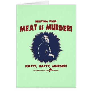 … Är kött mord Hälsningskort