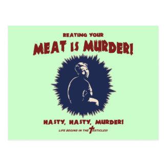 … Är kött mord Vykort