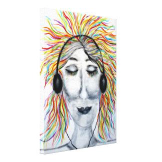 """""""Är liv bättre med musik"""" konst Canvastryck"""