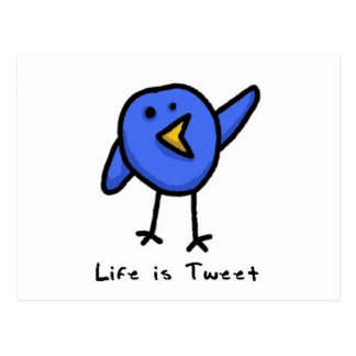 """""""Är liv den Tweet"""" vykortet Vykort"""