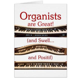 """""""Är Organists det underbara"""" kortet Hälsningskort"""