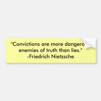 """""""Är övertygelser farligare fiender av trut… Bildekal"""