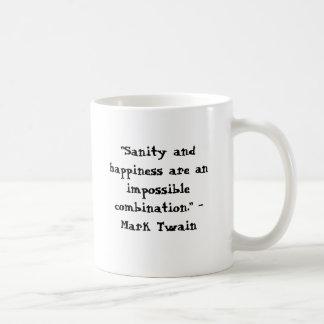 """""""Är Sanity och lyckan en omöjlig combina… Kaffemugg"""