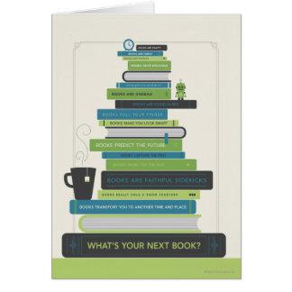 Är vad din nästa bok? hälsningskort
