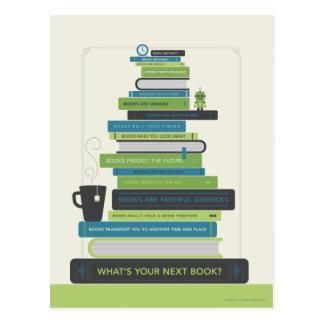 Är vad din nästa bok? vykort