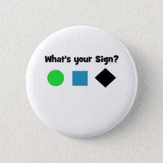 Är vad din undertecknar? standard knapp rund 5.7 cm