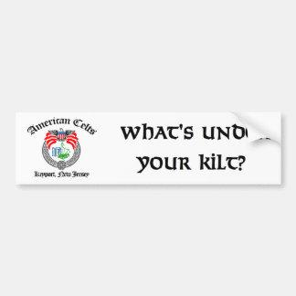 Är vad under din Kilt?  Bildekal