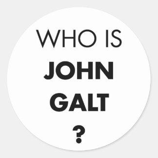Är vem John Galt? Ifrågasätta Runt Klistermärke